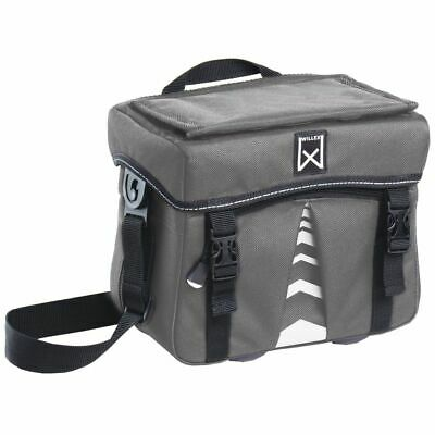 Willex Bicycle Handlebar Bag 1200 7 L Anthracite Bike Cycle Rear Pannier 13123 • 30.19£