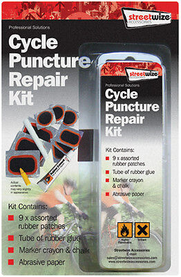 Quality Bicycle Cycle Bike Full Puncture Repair Kit Pack (Patch, Cement, Chalk) • 2.99£