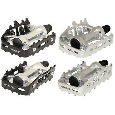 """Pedalpro Aluminium Alloy Mountain Bike/mtb Pedals Universal 9/16"""" Bicycle/cycle • 8.99£"""