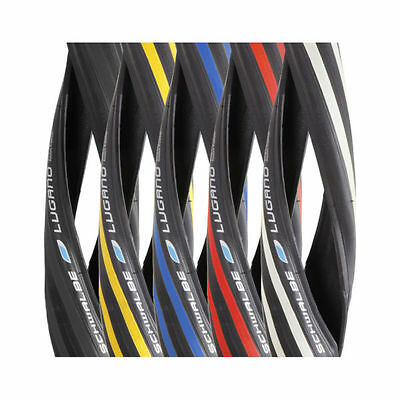 Pair Schwalbe Lugano 700c Tyres Bicycle Road Bike Cycle 23c 25c 28c Add Tubes • 25.99£