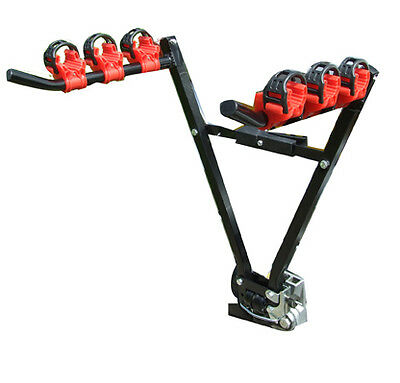 Car & 4x4 Secure Tow Ball Fitment 45kg 3 Bike Bicycle Travel Rack Carrier - NEW • 29.99£