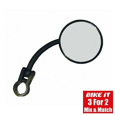 New Folding Cycle Mirror - Handlebar Fitment - Adjustable - Right Hand Fit - 1pc • 11.29£