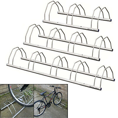 PedalPro Floor/Wall Mount Galvanized Bicycle Storage Rack/Stand 3/4/5 Bike/Cycle • 21.99£