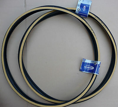 Pair SCHWALBE 27x 1 1/4 Cycle Amber Wall Walled Tyres Vintage Retro Bicycles 27  • 29.99£