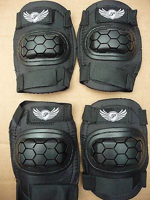 Elbow & Knee Pad Set BMX MTB Bike Cycle Skateboard Scooter Blading Pads NEW • 9.99£