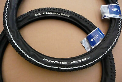 2x Schwalbe Rapid Rob 26x2.25 MTB Tyres Mountain Bike Cycle Tires Puncture Guard • 29.30£