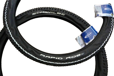 2x Schwalbe Rapid Rob 26x2.25 MTB Tyres Mountain Bike Cycle Tires Puncture Guard • 39.99£