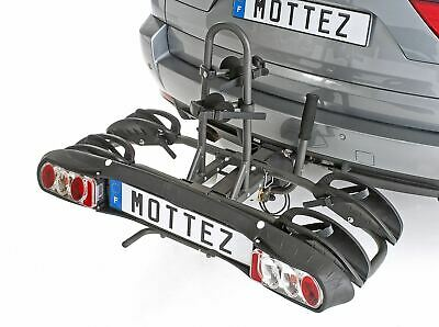 Mottez Towball Tilting Bicycle Carrier Rack For 2 Two Bikes Folding • 245.83£