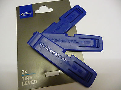 Schwalbe Pack Of 3 Tyre Levers Plastic Durable Lightweight New Bike Cycle Tools • 3.99£