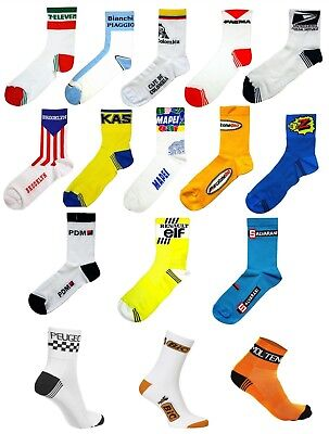 Retro Vintage Cycling Team Made In Italy Cotton Summer Bike Cycle Socks   • 4.99£