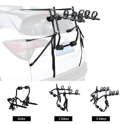 1 2 3 Bike Rack Cycle Bicycle Mountain Fix Strap Car Carrier Universal Fitting • 49.99£