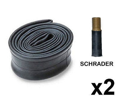 2 X 26  INCH X 1.95 - 2.125 BIKE CYCLE TYRE INNER TUBES BICYCLE SCHRADER VALVE • 7.79£