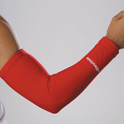 Santini 365 Arm Warmers Cycling Cycle Roubaix Thermofleece With Gripper - Red • 17.99£