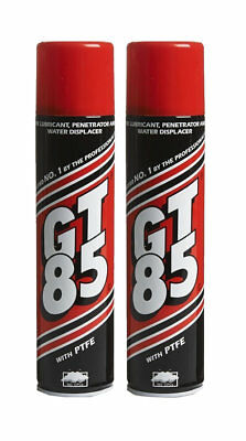 2 X GT85 SPRAY LUBE PTFE LUBRICANT PENETRATOR WATER DISPLACER CORROSION 400ML • 8.79£