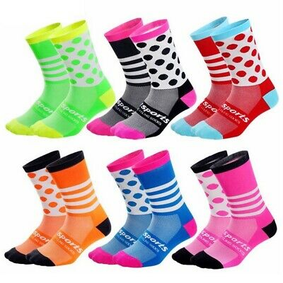 Dh Sports Men Women Bike Bicycle Breathable Summer Road Mtb Pois Cycling Socks • 4.99£