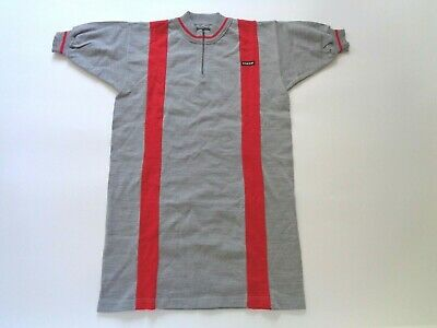 *NOS Vintage 1970s/80s COLOMBI Italian Wool Cycle Jersey (grey/red) Medium* • 45£