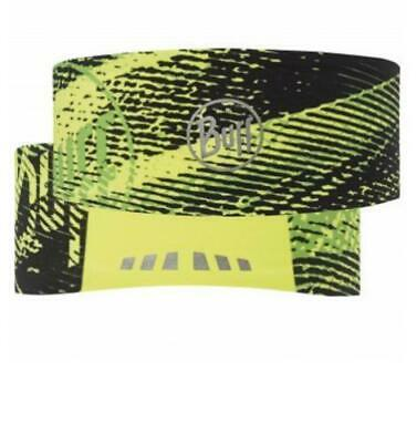 Nos Buff Tech Headband Flash Logo Fluorescent Yellow Headwear • 15£