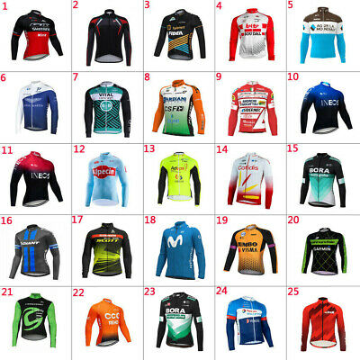 2020 Mens Cycling Jerseys Cycling Wear Cycling Long Sleeve Jersey Bicycle Jersey • 12.69£