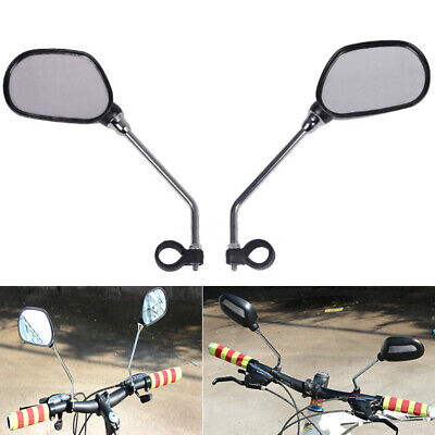 1pair Bicycle Bike Mobility Scooter Handlebar Mirrors With Safety Reflector • 9.61£