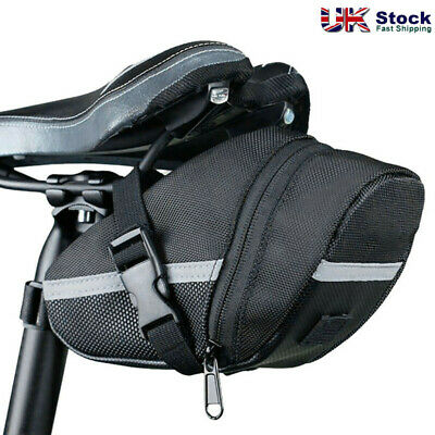 Bicycle Waterproof Storage Saddle Bag Bike Seat Cycling Rear Pouch Outdoor UK • 6.98£