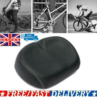 Extra Comfort Wide Big Bum Bike Bicycle Gel Cruiser Sporty Soft Pad Saddle Seat • 17.61£