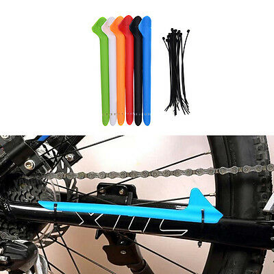 Bike Bicycle Frame Chain Guard Chain Stay Rear Fork Pad Protector Cover P1 • 3.75£