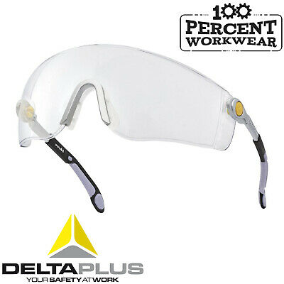 Pro Delta Plus Clear Lens Safety Spectacles Specs Glasses Cycling Mtb Sunglasses • 7.50£