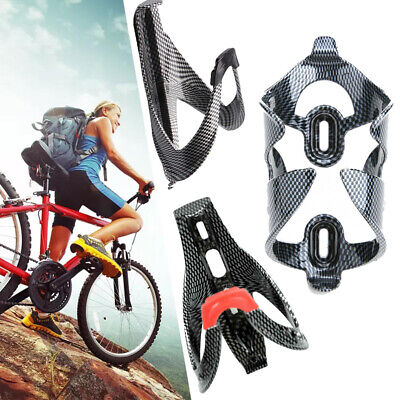Carbon Fiber Road Bicycle Bike Cycling Water Bottle Drinks Holder Rack Cage GL • 4.35£
