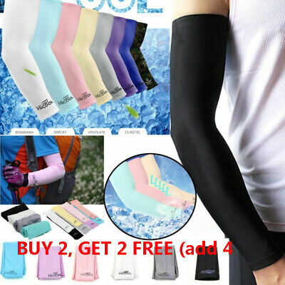 Cooling Arm Sleeves Cover UV Sun Protection Basketball Golf Athletic Sport 1Pair • 3.79£