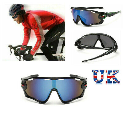 Unbreakable Mens Polarized Cycling Glasses Sports Glasses Sunglasses Goggles UK • 7.19£