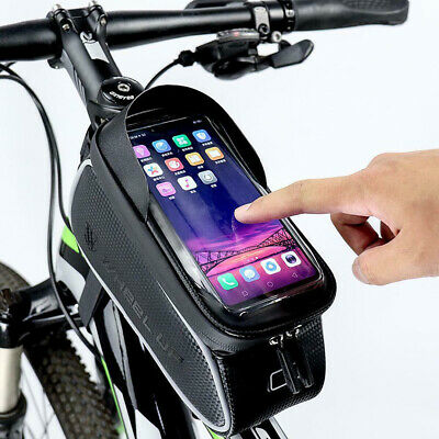 Waterproof Mountain Bike Frame Front Bag Pannier Bicycle Mobile Phone Hold NEW • 8.99£