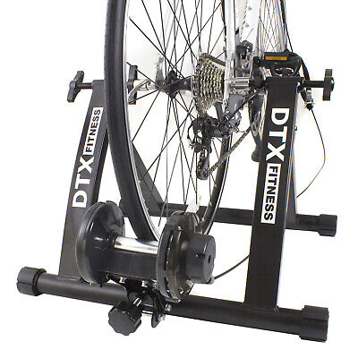 DTX Adjustable Bike Trainer Magnetic Exercise Triathlon Cycle Use Own Bicycle As • 119.99£