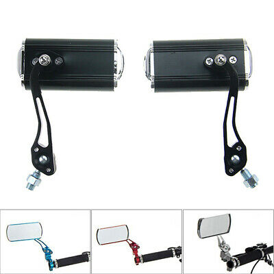 1 Pair Bicycle Bike Cycling Handlebar Rear View Rearview Mirror Rectangle Back • 14.99£