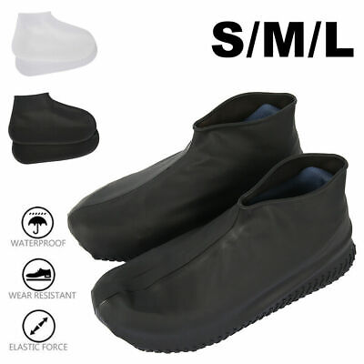 Recyclable Silicone Overshoes Rain Waterproof Shoe Covers Boot Cover Protector • 2.99£