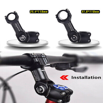 110mm Mountain Road Bike Handlebar Riser Adjustable Angle Bicycle Stem Extender • 11.99£
