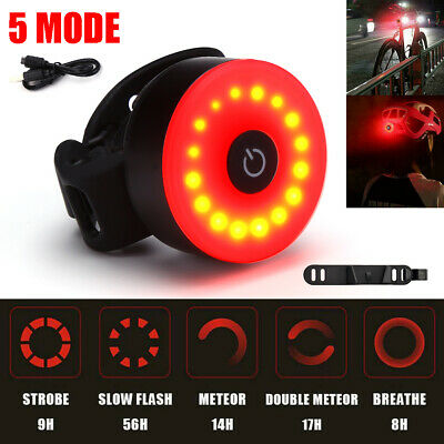 Rechargeable Bike Rear Tail Light LED USB Bicycle Cycling Waterproof Sports Lamp • 8.25£