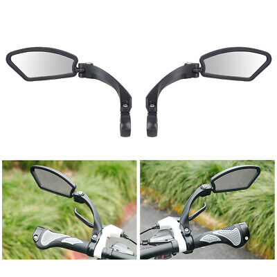 Bicycle Bike Cycle Handlebar Rear View Rearview Mirror Rectangle Back UK New • 12.88£