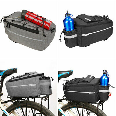 Insulated Trunk Cooler Bag Bicycle Rear Rack Bags Reflective Bike Pannier Bag • 11.49£