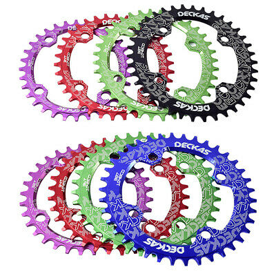 Mountain Bike Chainring 104BCD 32-38T Round Oval Bicycle Chain Ring Multicolor • 11.99£