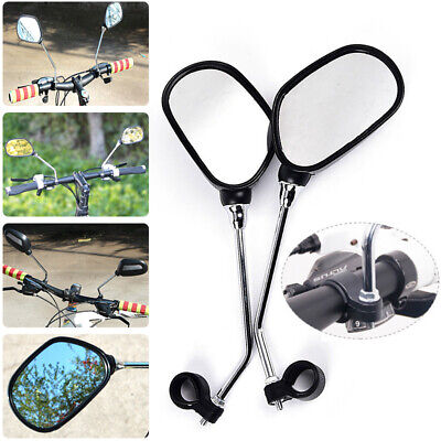 2pcs Bicycle Mobility Scooter Mountain Bike Handlebar Rear View Mirrors • 7.39£