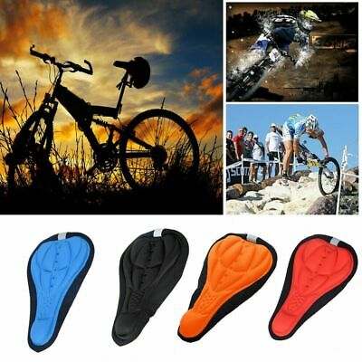 3D Gel Saddle Cycling Bike Seat Cover Pad Silicone Padded Soft Cushion Comfort • 3.29£