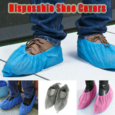 100Pairs Disposable Shoe Covers Dustproof Non-slip Waterproof Foot Cover Unisex • 10.60£