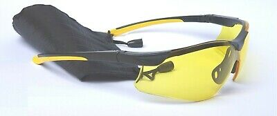 Sports Cycling Glasses Yellow Lens Top Quality Wrap Around Style C/w Free Pouch  • 9.95£