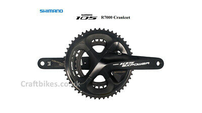 XCADEY SHIMANO 105 R7000 Chainset With Left+Right Dual Sided Power Meters • 449.99£