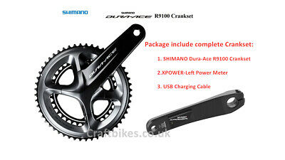 XCADEY SHIMANO Dura-Ace R9100 Chainset With Left Single-Sided POWER METER • 639.99£