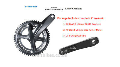 XCADEY SHIMANO Ultegra R8000 Chainset With Left Single-Sided POWER METER • 439.99£