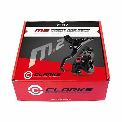 Clarks M2 MTB Hybrid Hydraulic Disc Brake Front And Rear Set 160mm Or 180/160mm • 58.99£