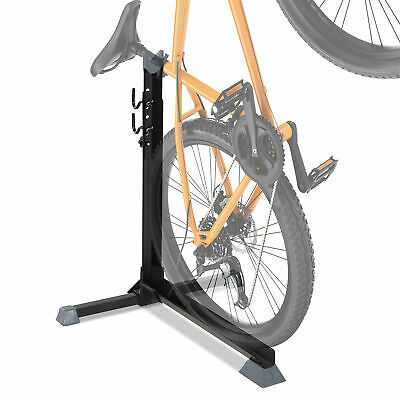 74cm Adjustable Metal Bike Rack Home Cycle Storage Stand W/ Safety Strap Black • 18.99£