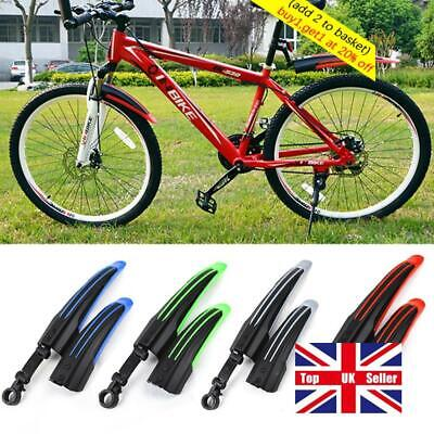 Parts Unbreakable Mountain Bike Fenders Front/Rear  Bicycle Mudguard  Wings • 6.19£