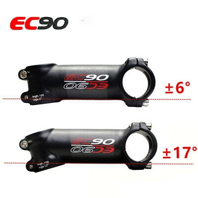Carbon Bicycle Handlebar Stem MTB Road Bike Cycling Stem 6/17 Degree 28.6*31.8mm • 13.65£